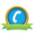 Gold phone logo vector