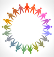 Icon of colorful people pictogram vector