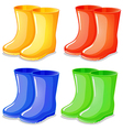 Four boots in different colors vector