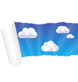 Paper and cloud vector