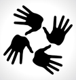 Hand prints icon vector
