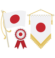 Japan flags vector