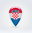 Croatian icon point for map vector