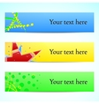 Banners headers abstract vector