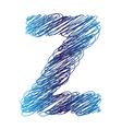 Sketched letter z vector