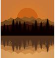 Sunset mountain vector