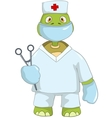 Funny turtle doctor vector