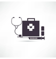 Items medicine icon vector