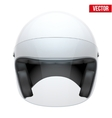 White motorbike classic helmet with clear glass vector