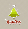Modern christmas tree design vector