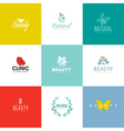 Set of beauty and nature logo templates and icons vector