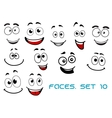 Happy emotions on cartoon faces vector