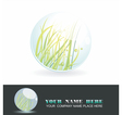 Sphere with spring inside shiny ball vector