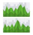 Green business diagram graph chart vector