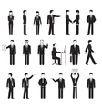Business peoples silhouettes vector
