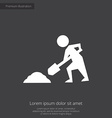 Construction works premium icon white on dark back vector