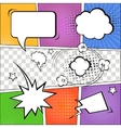 Comic speech bubbles and comic strip on colorful vector