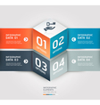 Business step circle origami style options banner vector