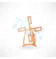 Orange mill grunge icon vector