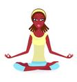 Summer yoga pose vector