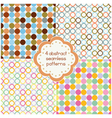 Round shapes seamless patterns vector