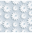 Floral seamless pattern with white chamomile vector