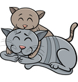 Cat and kitten cartoon vector