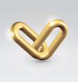 Golden chain links vector