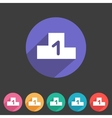 Flat game graphics icon chart vector