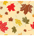 Seamless autumnal background vector