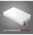 Realistic white blank hardcover book with red vector