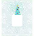 Abstract christmas tree card vector