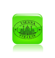 Vienna stamp icon vector