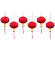 Chinese hanging lanterns vector