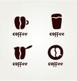 Abstract symbols of creative coffee vector
