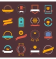 Vintage retro flat badges labels signs symbols vector