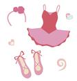 Ballerina fashion set vector