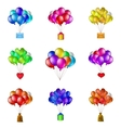 Balloons bunches set vector