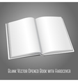Blank white opened book or photo album for your vector