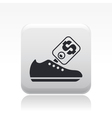Shoe price icon vector