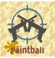 Paintball guns and splash poster vector