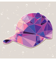 Retro baseball cap made of triangles vector