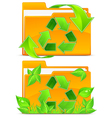 Folders green plants vector