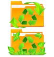 Folders green plants vector