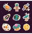 Space stickers set vector