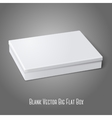 Blank white flat package box lying isolated on vector