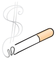 Cigarette with smoke vector