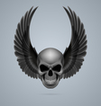 Evil skull with wings up vector