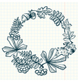 Wreath with leaves vector