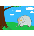 Elephant in the forest vector